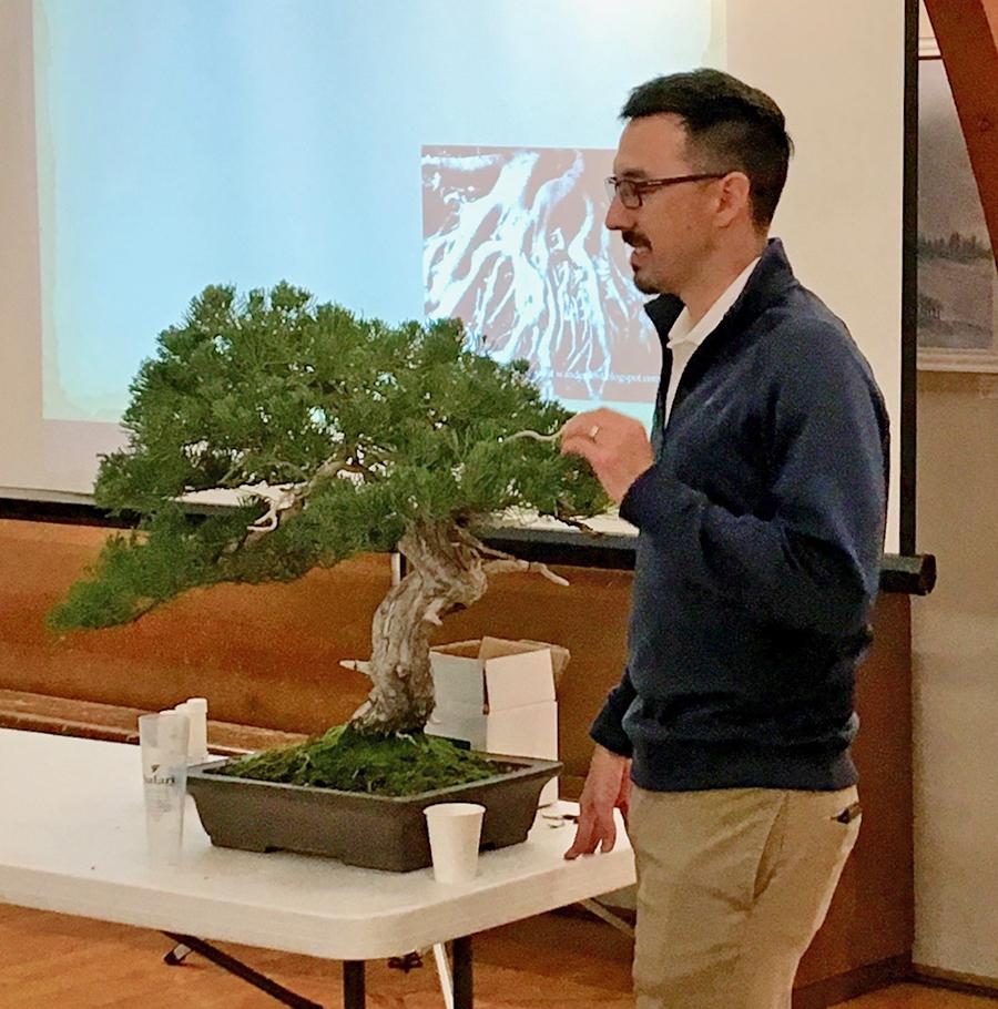 Ryan discussing foliage