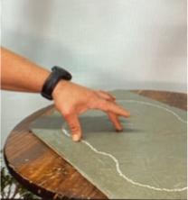 Chalk outline of slab shape