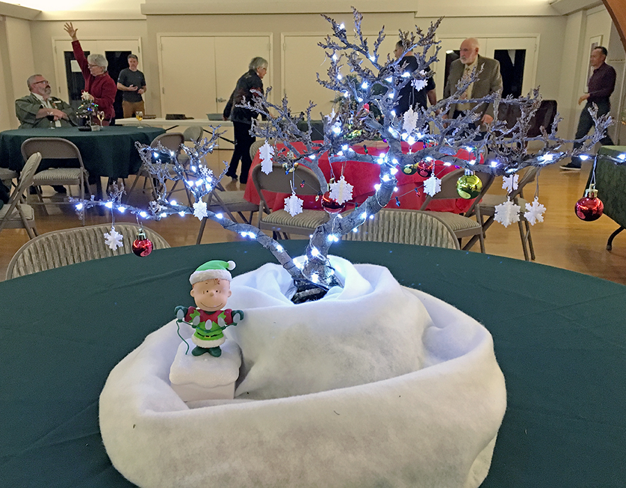 One of the centerpieces from our 2018 Holiday party